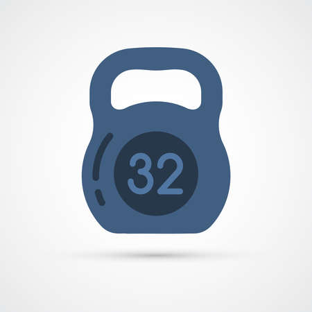 dumbbell weight trendy color icon. Vector eps 10