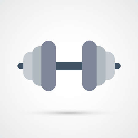 Barbell color trendy icon. Vector illustration