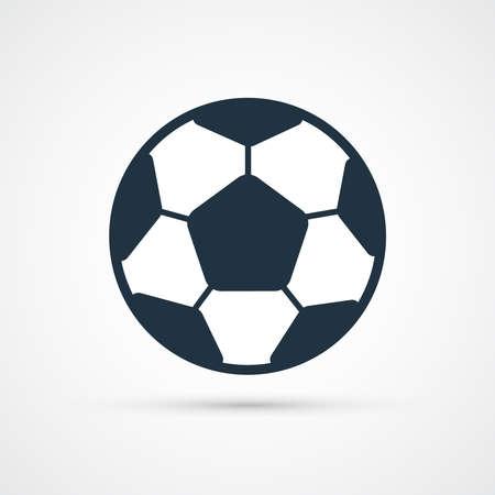 Trendy soccer football color ball icon. Vector eps 10
