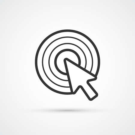 Cursor clicks generation trendy style black icon. Vector illustration