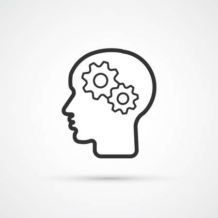 Mind setup business black icon. Vector illustration 向量圖像