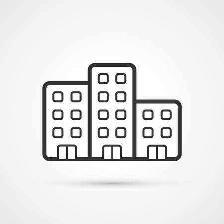 The property trendy black icon. Vector illustratiion Illustration