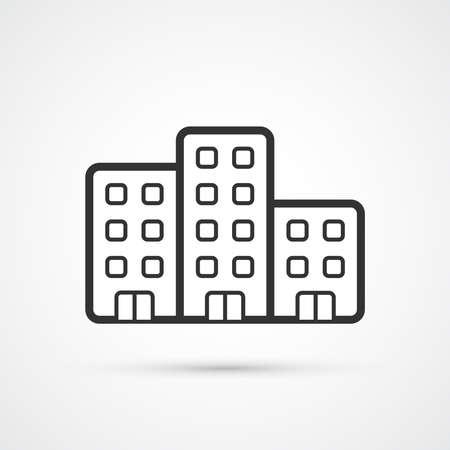 The property trendy black icon. Vector illustratiion 向量圖像