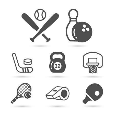 Sort trendy icons on white background. Vector illustration