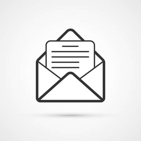 Mail letter trendy black icon. Vector illustration 向量圖像