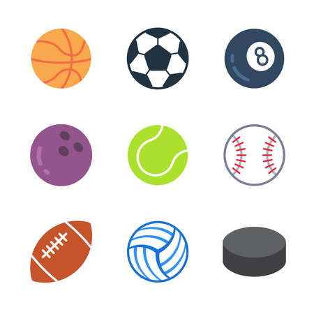 Sport and games modern color icon pack set 1. Vector eps 10 elements