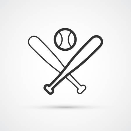 Baseball bats and ball trendy icon. Vector eps10