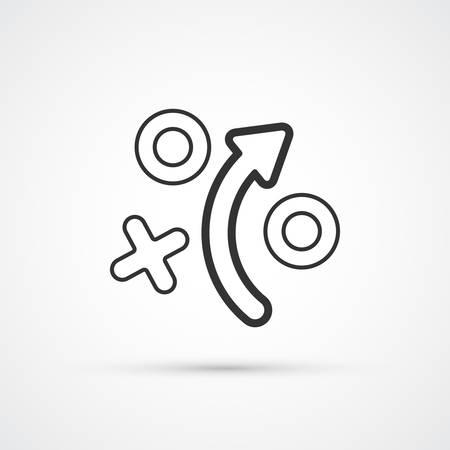 Strategy tactics plan trendy style black icon. Vector illustration