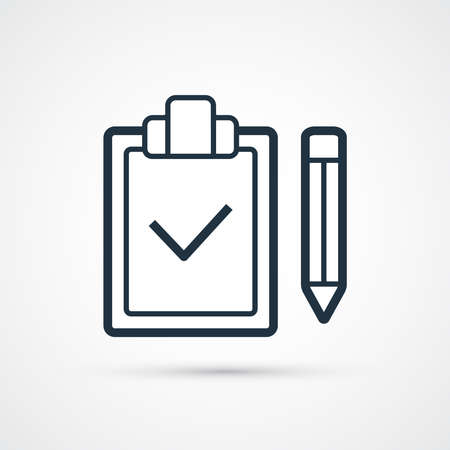 Check list icon trendy flat line symbol. Vector eps 10 向量圖像