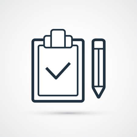 Check list icon trendy flat line symbol. Vector eps 10 Illustration