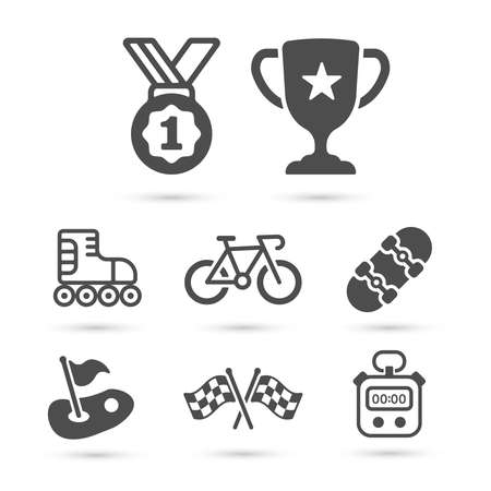 Trendy sport icons pack. Vector illustrator