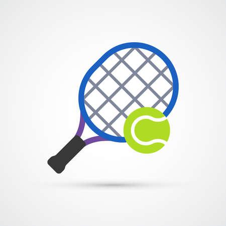 Tennis trendy sport color icon. Vector eps 10