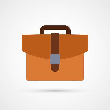 Briefcase trendy color finance money icon. Vector eps 10