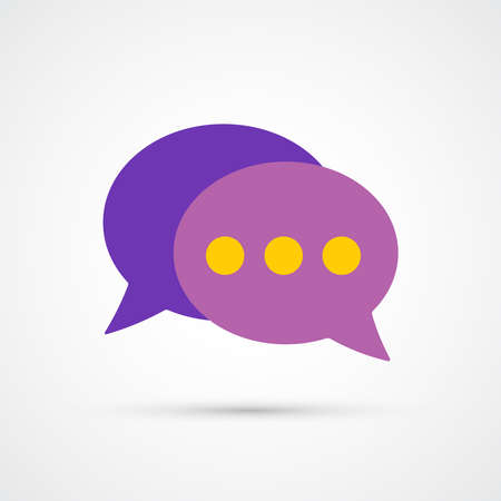 Speech bubble communication icon trendy color social. Vector eps 10