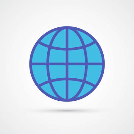 Globe icon trendy color social. Vector eps 10