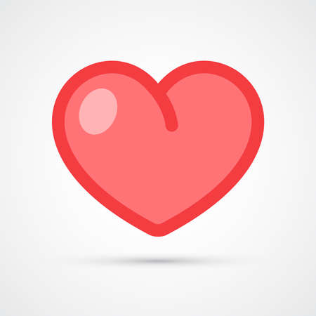 Heart icon trendy color social. Vector eps 10
