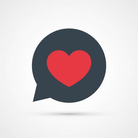 Heart speech bubble icon trendy color social. Vector eps 10