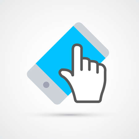 Mobile touch screen icon trendy color social. Vector eps 10