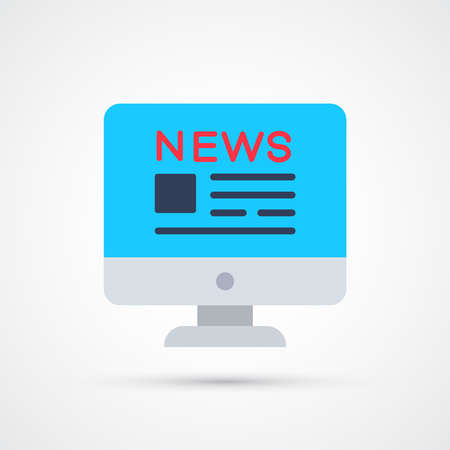 Monitor news site icon trendy color social. Vector eps 10 Illustration