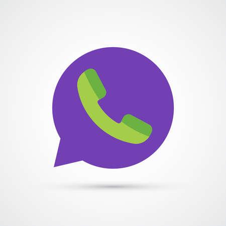 Phone speech bubble icon trendy color social. Vector eps 10 Illustration
