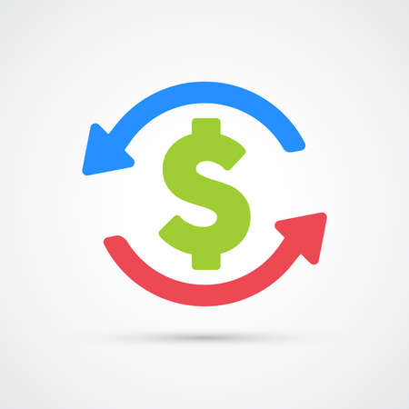 Budget money icon trendy color seo internet marketing. Vector eps 10
