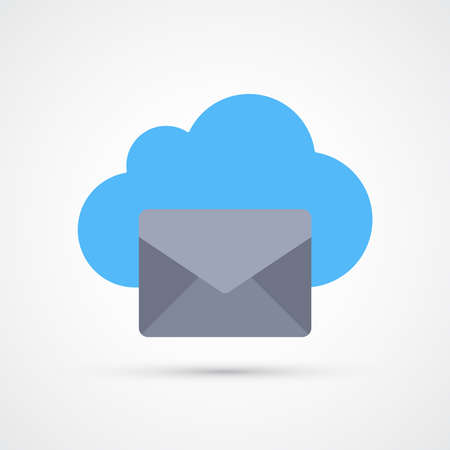 Cloud mail icon trendy color seo internet marketing. Vector eps 10