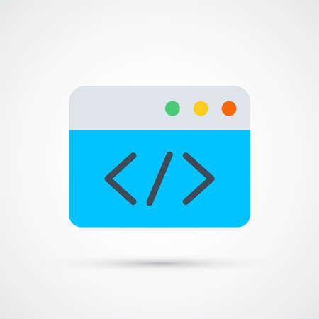 Programming code icon trendy color seo internet marketing. Vector eps 10