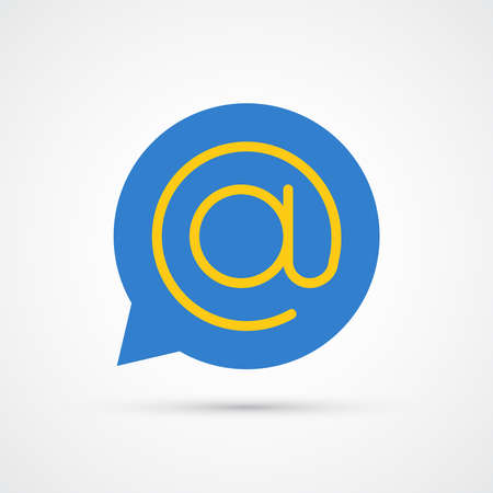Mail bubble icon trendy color seo internet marketing. Vector eps 10