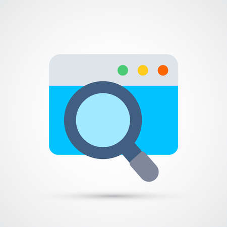 Search window icon trendy color seo internet marketing. Vector eps 10