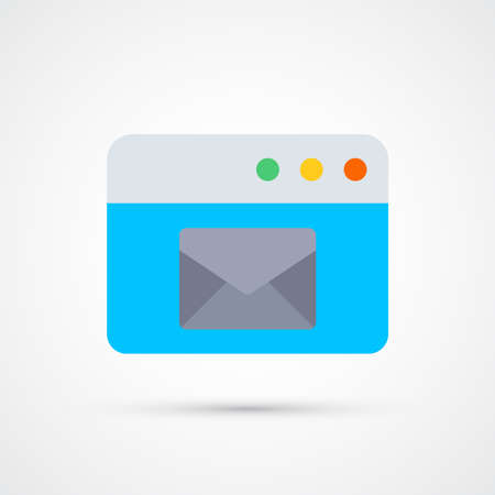 Mail programm window icon trendy color seo internet marketing. Vector eps 10