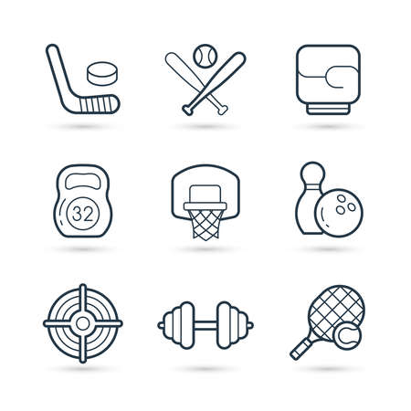 Sport trendy icon set. Vector eps 10