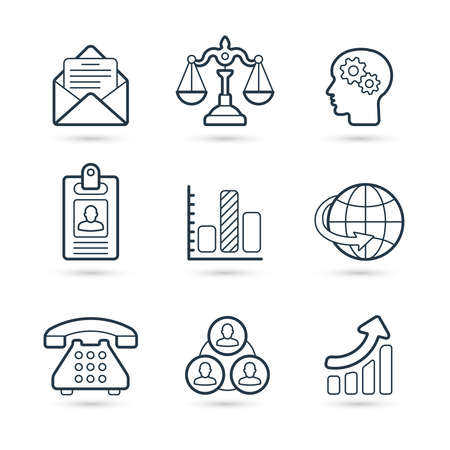 Business corporate icon set. Vector eps 10