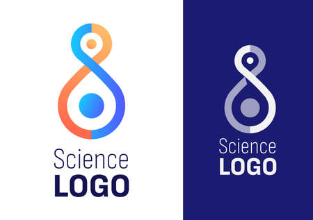 Modern trendy Science symbol for science company or event. Vector eps 10 illustration