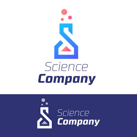 Labs flask Science modern symbol for company or event. Vector eps 10 illustration