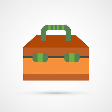 Tool box trendy color building tools icon. Vector eps 10 Иллюстрация