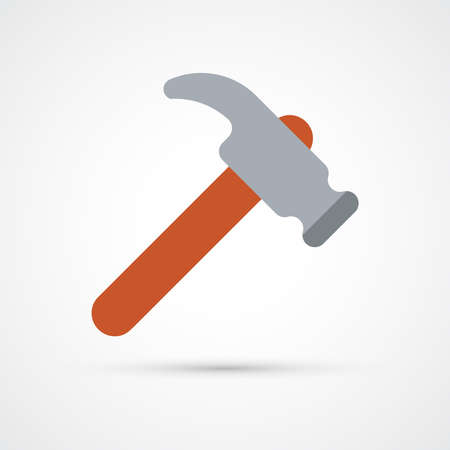 Hummer trendy color building tools icon. Vector eps 10