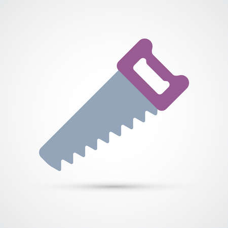 Hand Saw trendy color building tools icon. Vector eps 10 Ilustracja