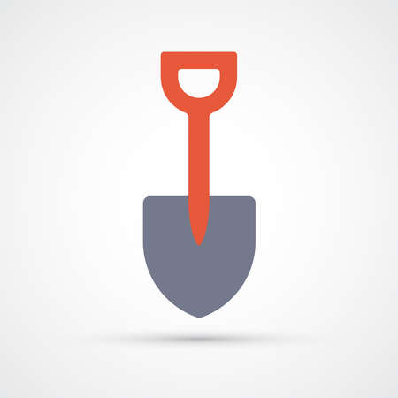 Showel trendy color building tools icon. Vector eps 10