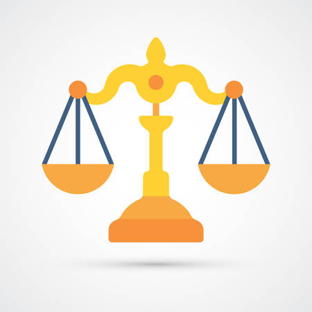 Law Scales trendy color icon. Vector eps 10