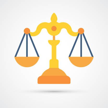 Law Scales trendy color icon. Vector eps 10