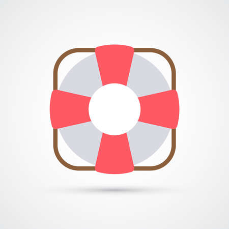 Lifebuoy trendy color icon. Vector eps 10 Illustration