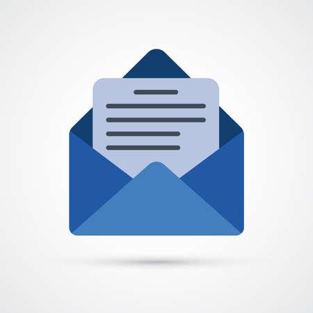 Mail trendy color icon. Vector eps 10 版權商用圖片 - 124965159