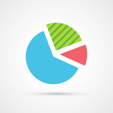 Pie chart icon trendy color seo internet marketing. Vector eps 10
