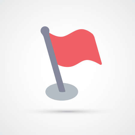 Red flag trendy color icon. Vector eps 10