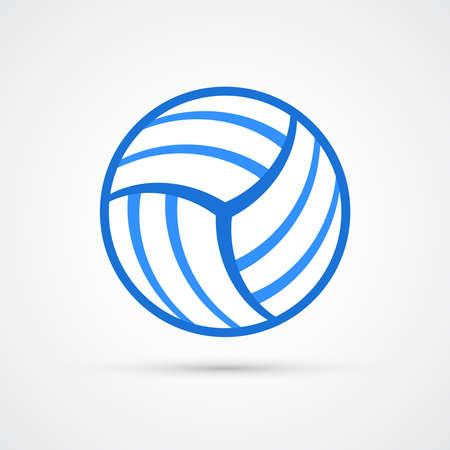 Volleyball ball trendy color sport icon. Vector eps 10
