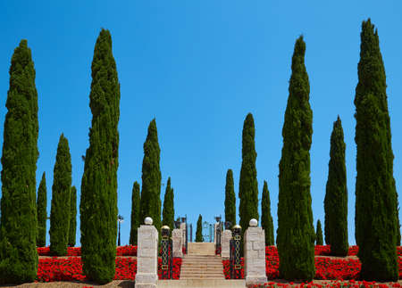 The Bahai Gardens in Acre Acre