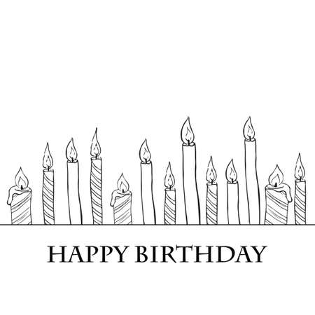 Birthday Candles  Stock Vector - 17460539