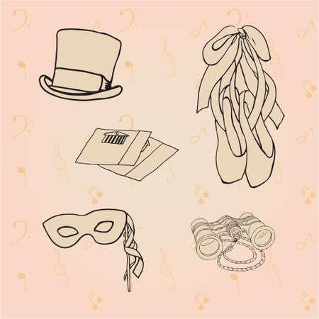 tall hat: set of theatre Illustration