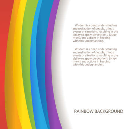 rainbow background with custom text copy place Vector