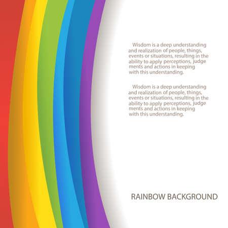 arcobaleno astratto: sfondo arcobaleno con copia su posto di testo Vettoriali